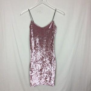 Blush Pink Velour Dress
